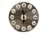 "Clock with Roman Numerals/Wood Face-23""""D Product Image"