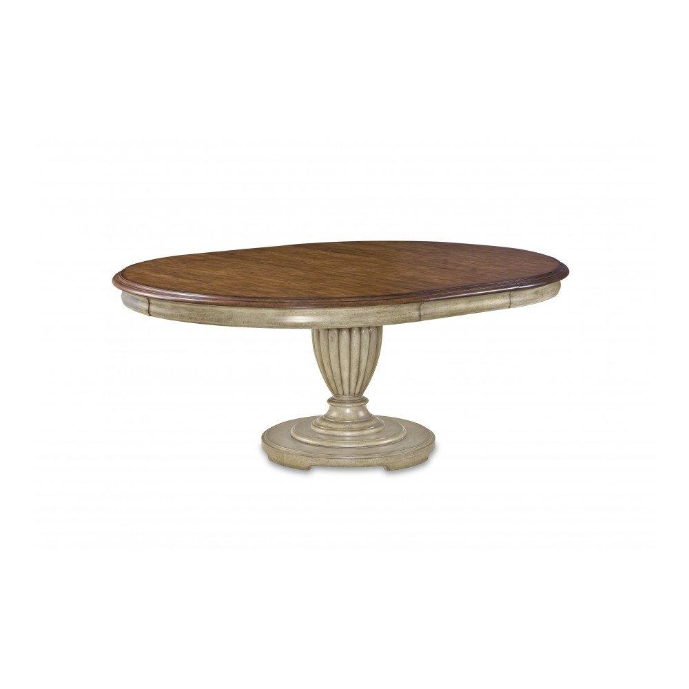 Provenance Round Table Base - Antique Linen