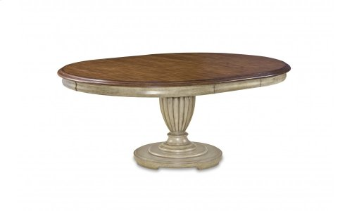 Provenance Round Table Base - Antique Linen