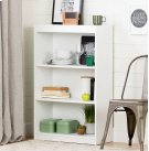 3-Shelf Bookcase - Pure White Product Image