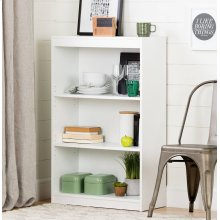 3-Shelf Bookcase - Pure White