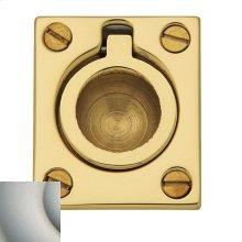 Satin Nickel with Lifetime Finish Flush Ring Pull