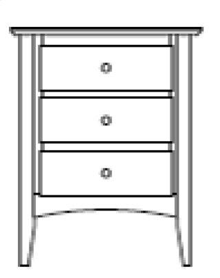 Sedona 3 Drawer Nightstand