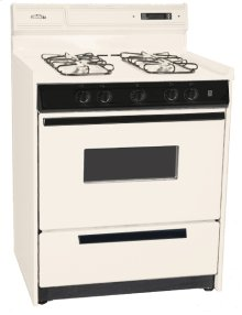 """Deluxe Bisque Gas Range In 30"""" Width With Electronic Ignition, Digital Clock/timer, and Oven Door With Light; Replaces Stm2307kw"""