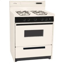 "Deluxe Bisque Gas Range In 30"" Width With Electronic Ignition, Digital Clock/timer, and Oven Door With Light; Replaces Stm2307kw"