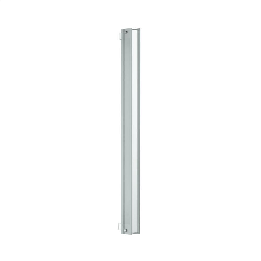"3-1/2"" X 40"" Bevel Edge Vertical Fluorescent Light In Brushed Nickel"