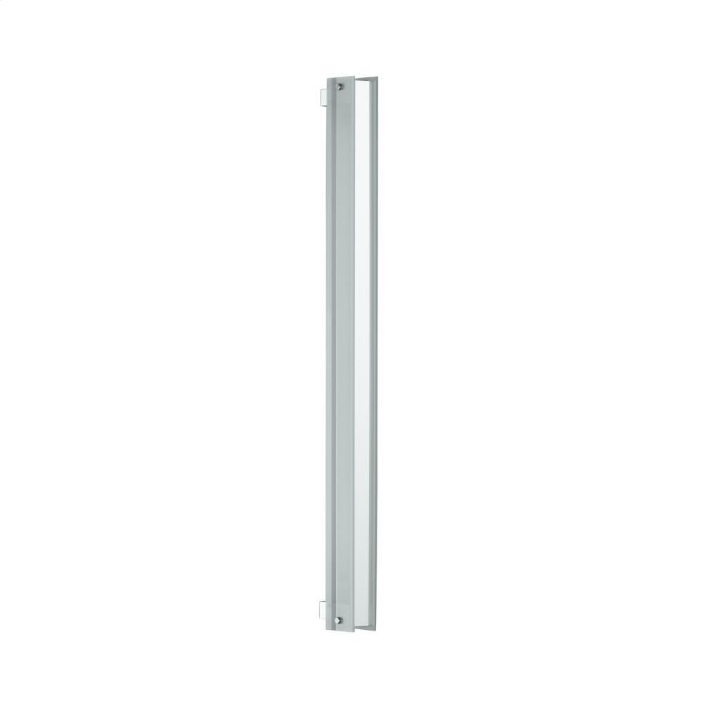 "3-1/2"" X 40"" Bevel Edge Vertical Fluorescent Light In Brushed Nickel"