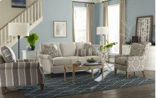 Craftmaster Living Room Stationary Sofa, Three Cushion Sofa