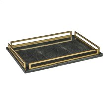 Seraphina Grand Tray - Charcoal Shagreen