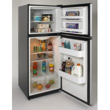Model FF993PD - 9.9 Cu. Ft. Frost Free Refrigerator - Black Cabinet w/Platinum Finish Doors