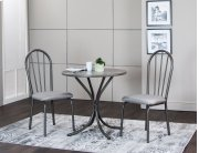 Sunset Trading 3 Piece Steel Gray Dining Table Set - Sunset Trading Product Image