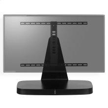 Black- Custom-designed swivel base for a TV and Playbase.