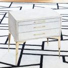 Stiletto Bedside Table-White Hair-on-Hide Product Image