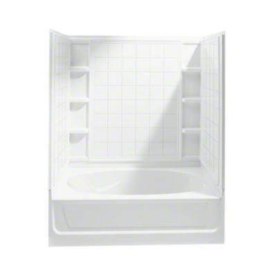 "Ensemble™, Series 7110, 60"" x 36"" x 72"" Tile Bath/Shower with Access Panel - Right-hand Drain - White"