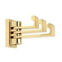 Luna Robe Hook A6885 - Polished Brass