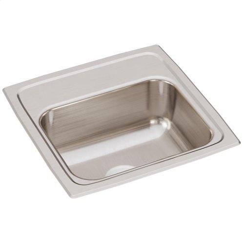 "Elkay Lustertone Classic Stainless Steel 15"" x 15"" x 6-1/8"", Single Bowl Drop-in Bar Sink"