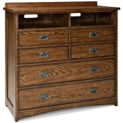 Oak Park Five Drawer Media Chest Product Image