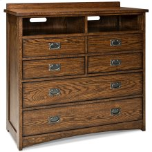 Oak Park Five Drawer Media Chest