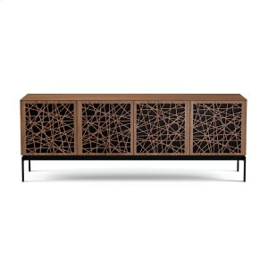 Bdi FurnitureQuad Cabinet With Console Base in Ricochet Doors Natural Walnut