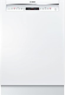 "800 Series 24"" Recessed Handle Dishwasher 800 Series- White SHEM78W52N"