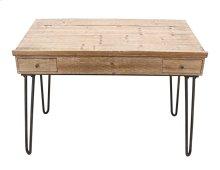 Natural Wood Writing Desk, Kd