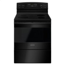 Out of Box 30-inch Electric Range with Self-Clean Option - black