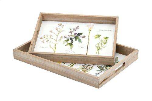 Gardenia Decorative Trays - Set of 2