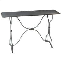 Grey Scroll Console Table. Product Image