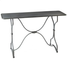 Grey Scroll Console Table.