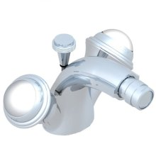 Single Hole, 2 Handlebidet Faucet With Drain