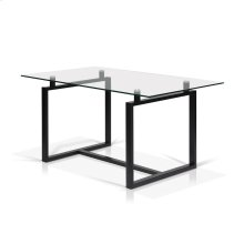 Acker Rectangular Glass Top Dining Table