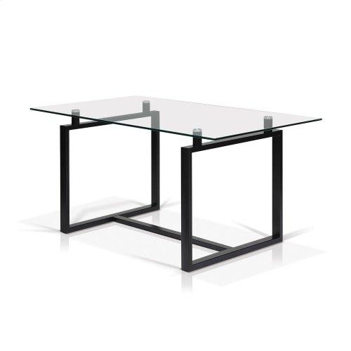 Acker Rectangular Glass Top Dining Table