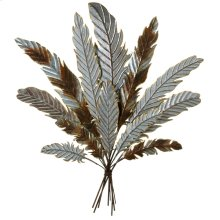 Galvanized Feather Bouquet Wall Decor.