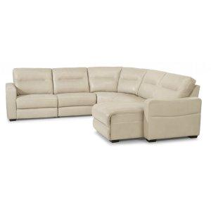 Monet Leather Power Reclining Sectional with Power Headrests