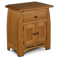 Aspen Nightstand with Doors and Inlay Product Image