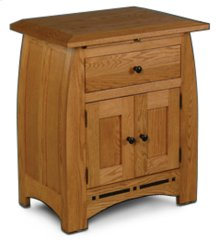 Aspen Nightstand with Doors and Inlay