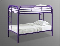 Edison Purple Twin / Twin Metal Bunk Bed