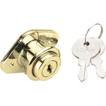 "7/8"" Brass Drawer Lock Keyed Alike"