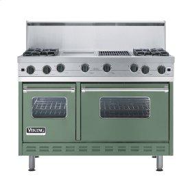 """Mint Julep 48"""" Open Burner Commercial Depth Range - VGRC (48"""" wide, four burners 12"""" wide griddle/simmer plate 12"""" wide char-grill)"""
