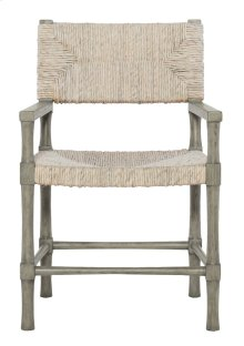 Palma Arm Chair in Rustic Gray
