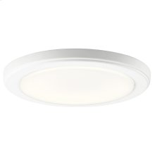 """Zeo Collection Zeo 3000K LED 10"""" round Flushmount WH"""