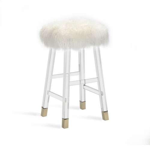 Reva Bar Stool - Ivory Sheepskin