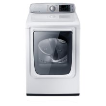 7.4 cu. ft. Capacity Gas Front Load Dryer (Neat White)