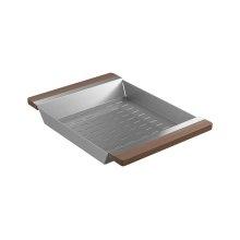 Colander 205040 - Walnut Fireclay sink accessory , Walnut