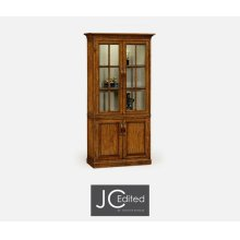 Plank Country Walnut Tall Bookcase with Strap Handles