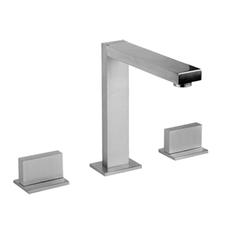 "Three hole washbasin mixer - Spout height 6-1/4"" and projection 5-5/8"""