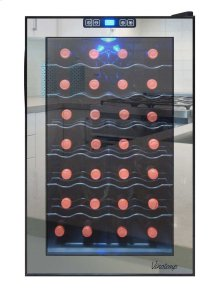 28-Bottle Mirrored Wine Cooler (Compressor)