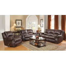 Sir Rawlinson Burgundy Brown Motion Sofa, Loveseat and Recliner