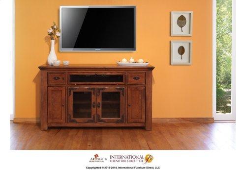 """62"""" TV Console w/4 doors, 2 drawers & 1 Landscape door"""