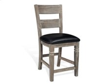 """24""""H Pinehurst Ladderback Barstool, Cushion Seat Product Image"""